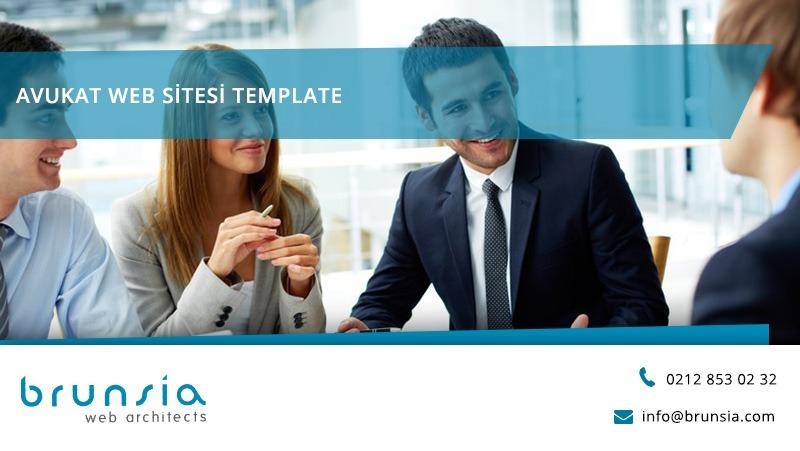 Avukat Web Sitesi Template