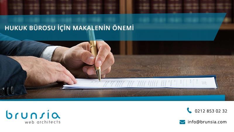 hukuk bürosu web sitesi için makale